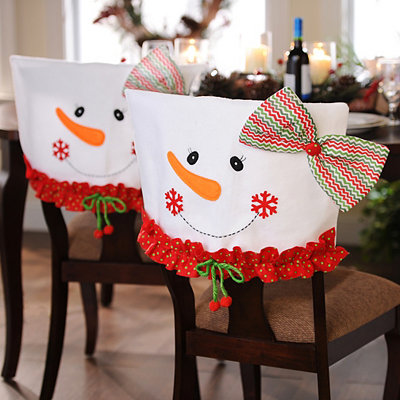 Mrs. Snowman Chair Covers, Set of 2