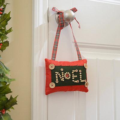 Rustic Noel Door Hanger