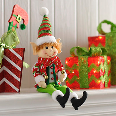 Jolly Elf Boy Shelf Sitter