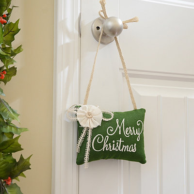 Green Merry Christmas Door Hanger