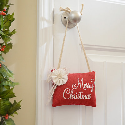 Red Merry Christmas Door Hanger