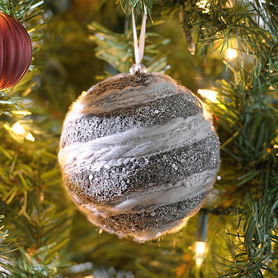 Charcoal Chenille Ornament