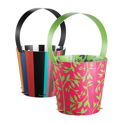 Reversible Lil' Buds Planter Baskets, Set of 2