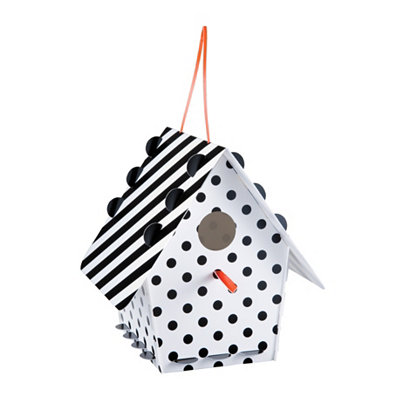 Black & White Polka Dot Birdhouse