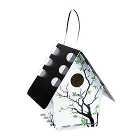 White Tree Branch Silhouette Birdhouse
