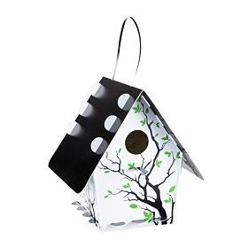 White Tree Branch Silhouette Birdhouse
