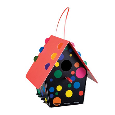 Neon Polka Dot Birdhouse