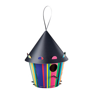 Neon Striped Birdhouse