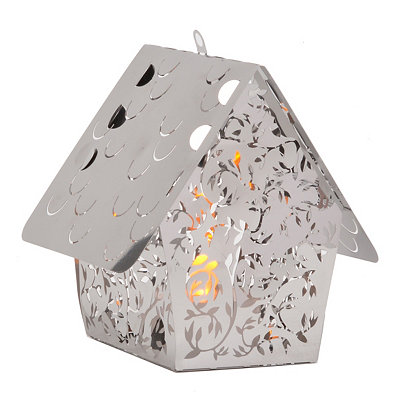 Vines Birdhouse Stainless Steel Lantern