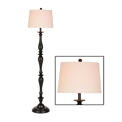 Black Spindle Floor Lamp