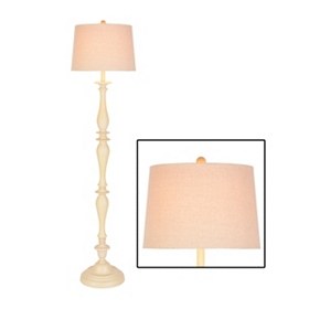 White Spindle Floor Lamp