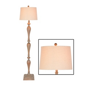 Brown Spindle Floor Lamp