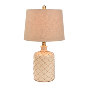 Netted Cream Ceramic Table Lamp