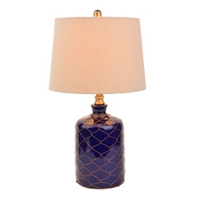 Netted Cobalt Ceramic Table Lamp