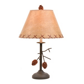 Pine Cone Branch Table Lamp, 22 in.