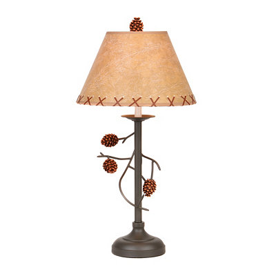 Pine Cone Branch Table Lamp, 28 in.