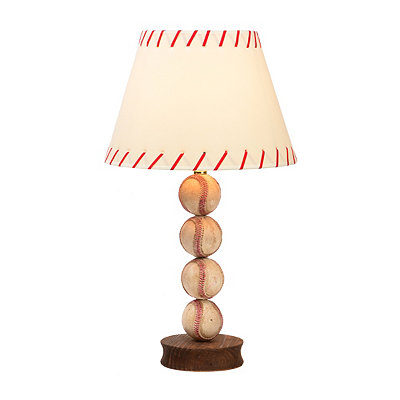 Stacked Baseball Table Lamp