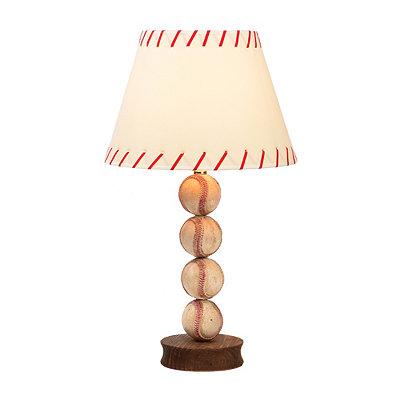 Stacked Baseball Table Lamp