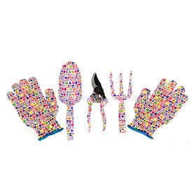 Rainbow Dots Garden Tool Set, 4-pc.