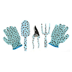 Polka Dots Garden Tool Set, 4 pc.