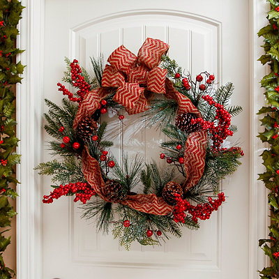 Glittered Red Berry Wreath