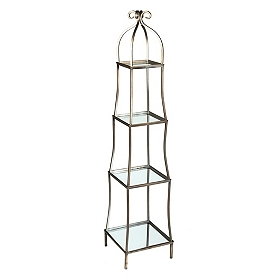 Silver Mirrored Etagere