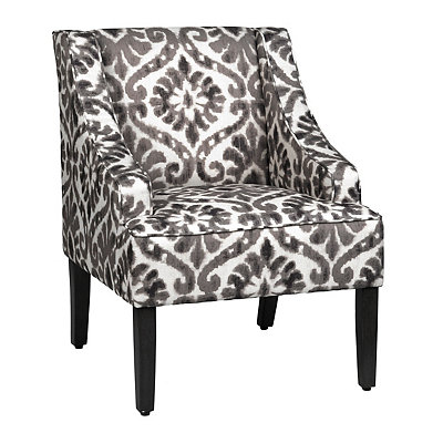 Atria Gray Ikat Accent Chair