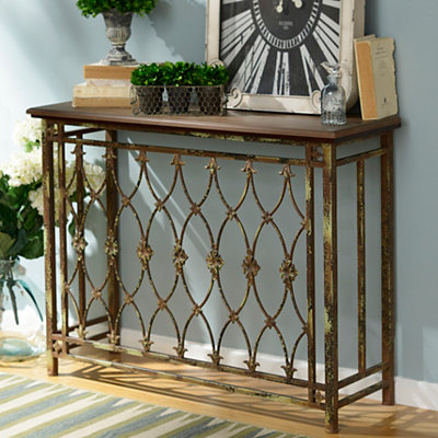 Rustic Gate Console Table