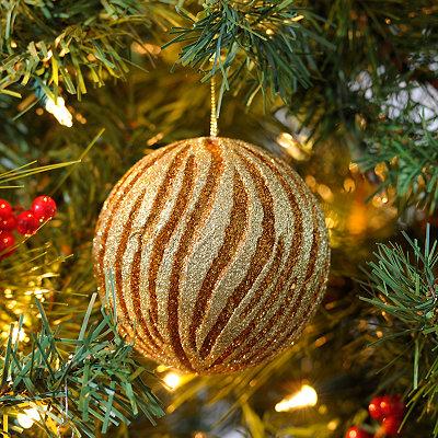 Gold and Copper Swirl Ornament, 4 in.