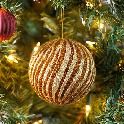 Gold and Copper Swirl Ornament, 6 in.