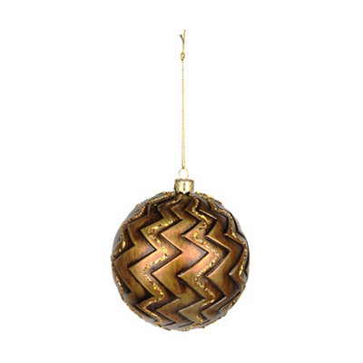 Antique Gold Chevron Ornament