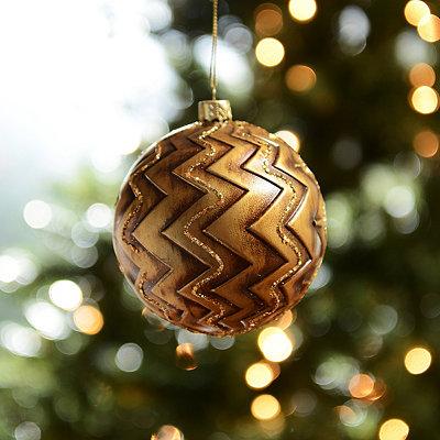 Antique Gold Chevron Ornament