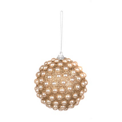 Champagne Pearl Orb Ornament