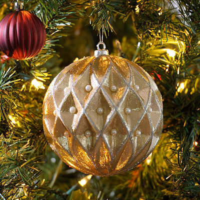 Champagne Diamond Orb Ornament