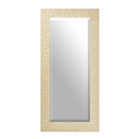 Embossed Ivory Leaner Mirror, 36x75