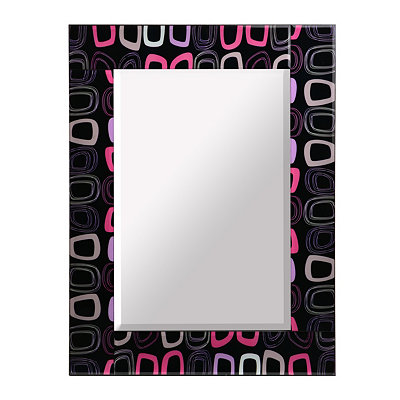Neon Geometric Shapes Framed Mirror, 24x32