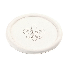 Absorbent Fleur-De-Lis Wine Bottle Coaster