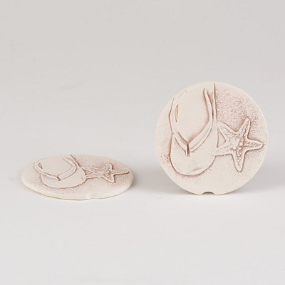 Flip Flop Car Coaster, Set of 2