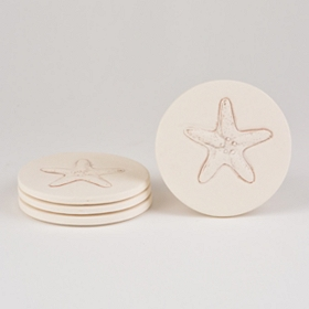 Absorbent Starfish Coasters, Set of 4