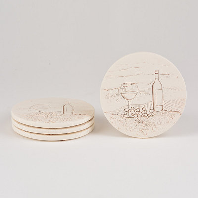 Absorbent Vineyard Coasters, Set of 4