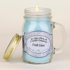 Fresh Linen Mason Jar Candle