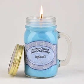Hyacinth Mason Jar Candle