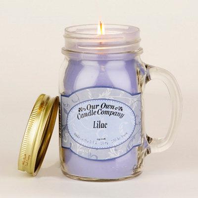 Fresh Lilac Mason Jar Candle