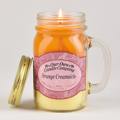Orange Creamsicle Mason Jar Candle