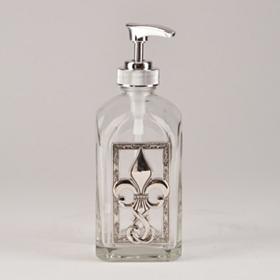 Silver Fleur-de-lis Soap Pump
