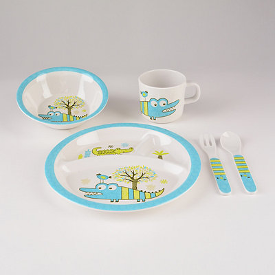 Baby Alligator Kids Dinnerware Set, 5 pc.