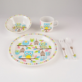 Baby Owls Kids Dinnerware Set, 5 pc.