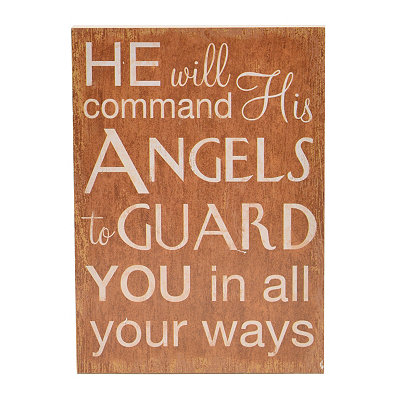 He Will Command Wood Plaque