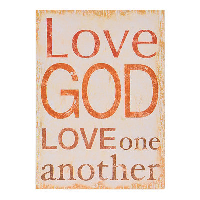 Love God Wood Plaque