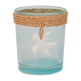 Blue Starfish Votive Holder